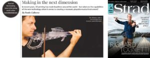 The 3Dvarius in The Strad Magazine