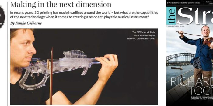 3Dvarius dans le magazine The Strad