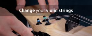 Changing electric violin strings