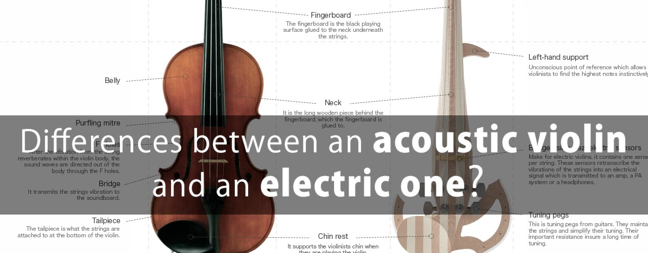 What are the differences between an acoustic violin and an electric violin?