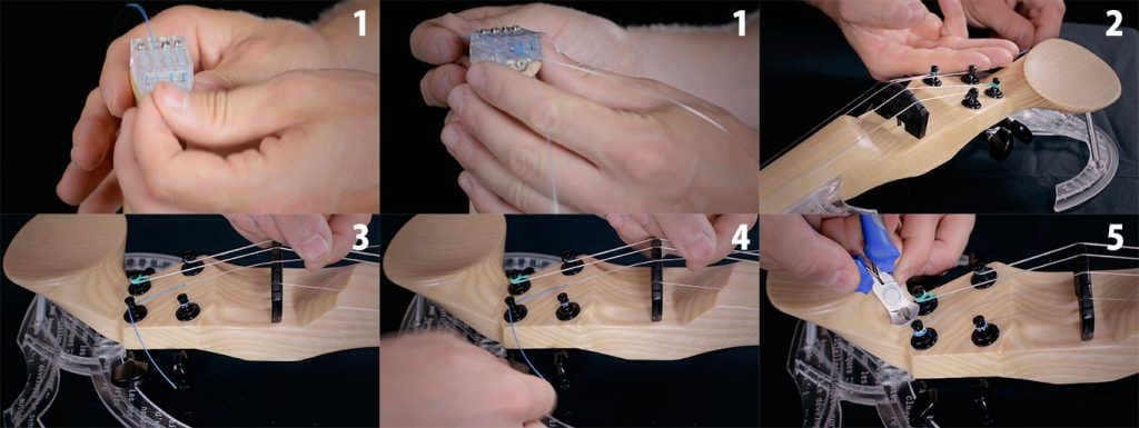 Reemplace las cuerdas de un violín