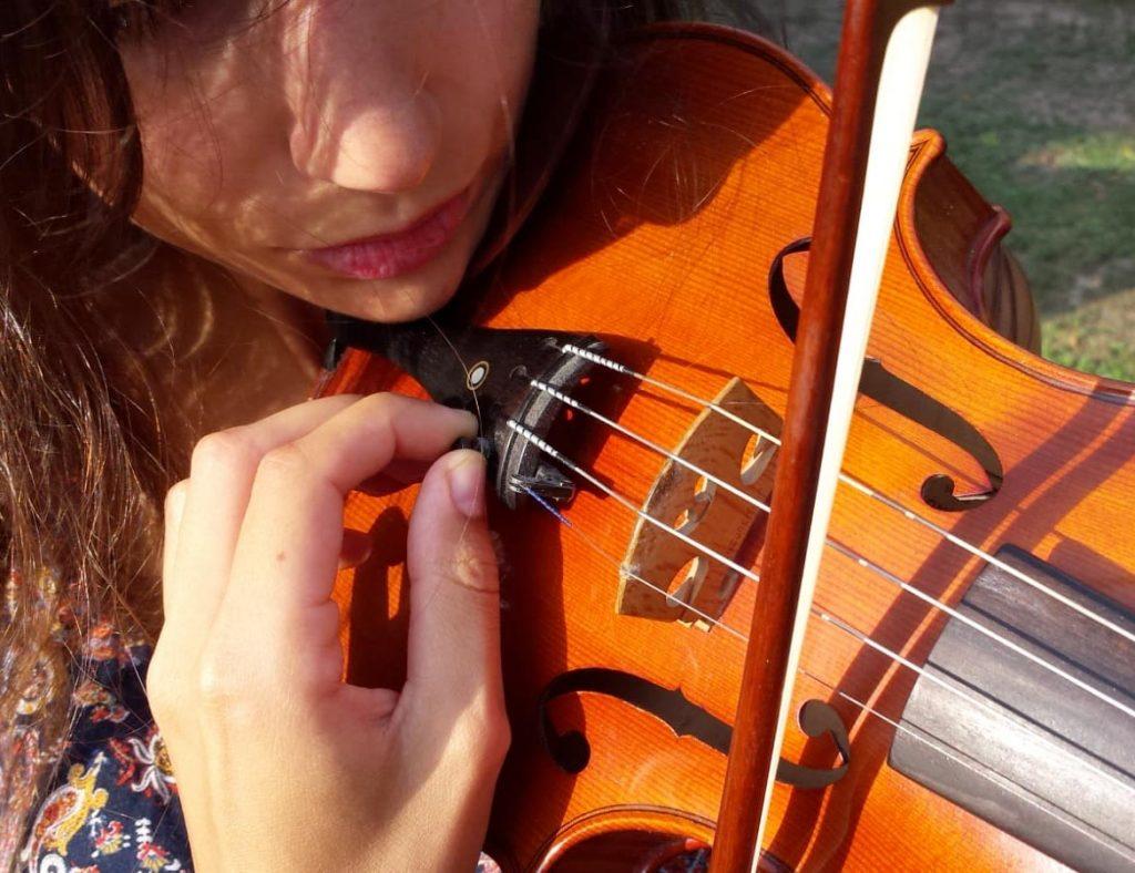 micro afinadores de violín clásico