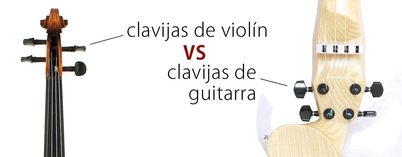clavijas de violín vs clavijas de guitarra