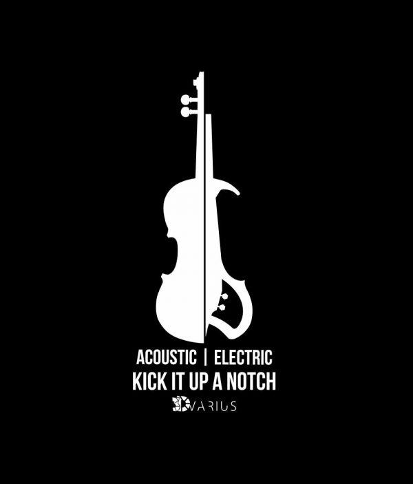 violon électrique violin tee shirt