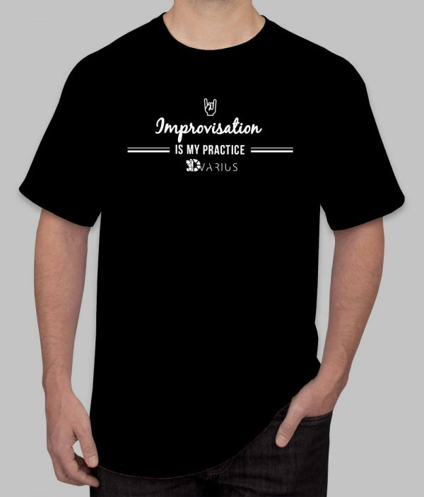 Improvisation Tee Shirt Black Men
