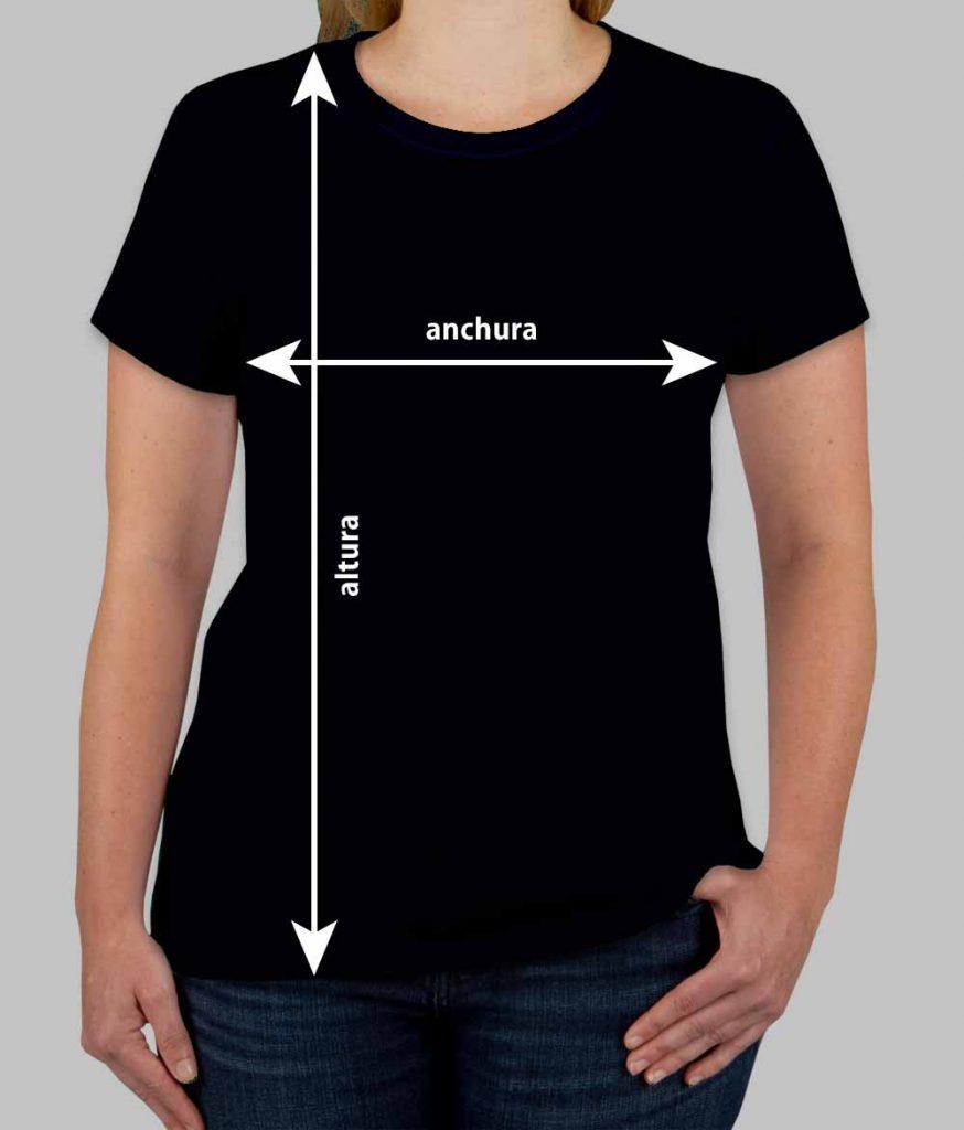 Medidas de las camisetas Mujer