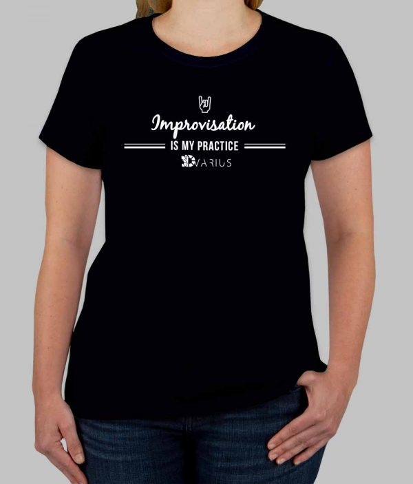 Improvisation Tee Shirt Black Women