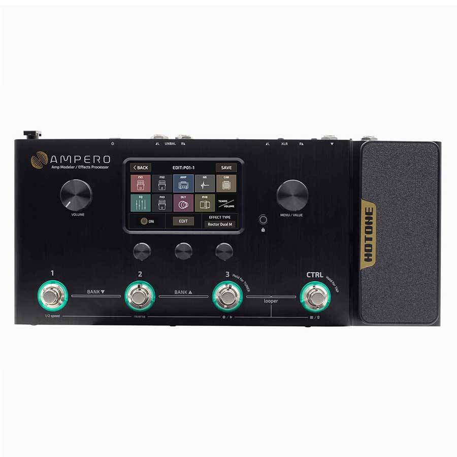 Ampero effects processor for electric violins
