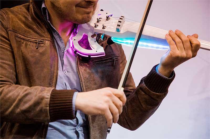 Violon électrique LED