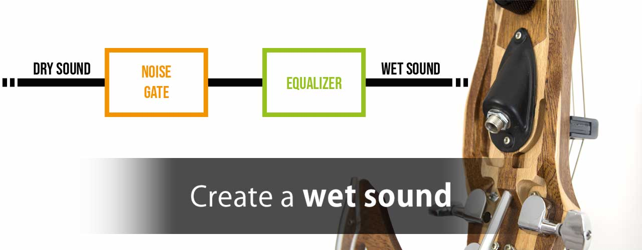 Create a wet sound