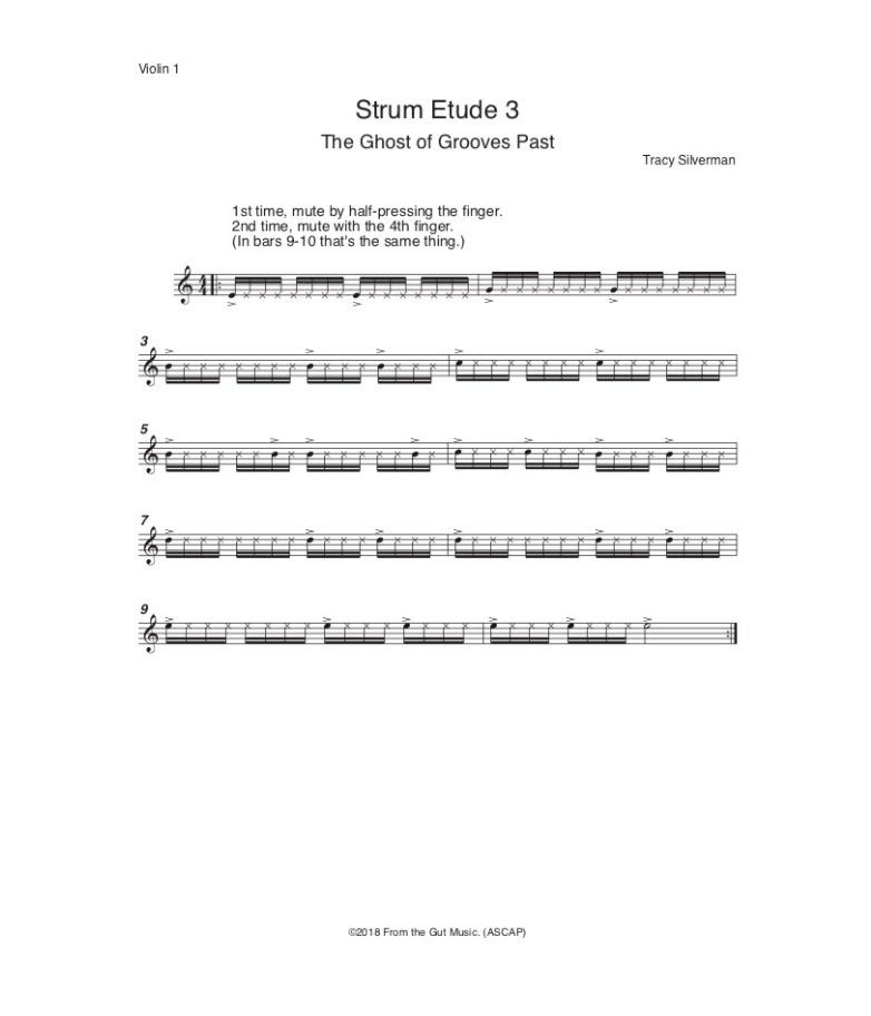 Strum Etude 3 by Tracy Silverman