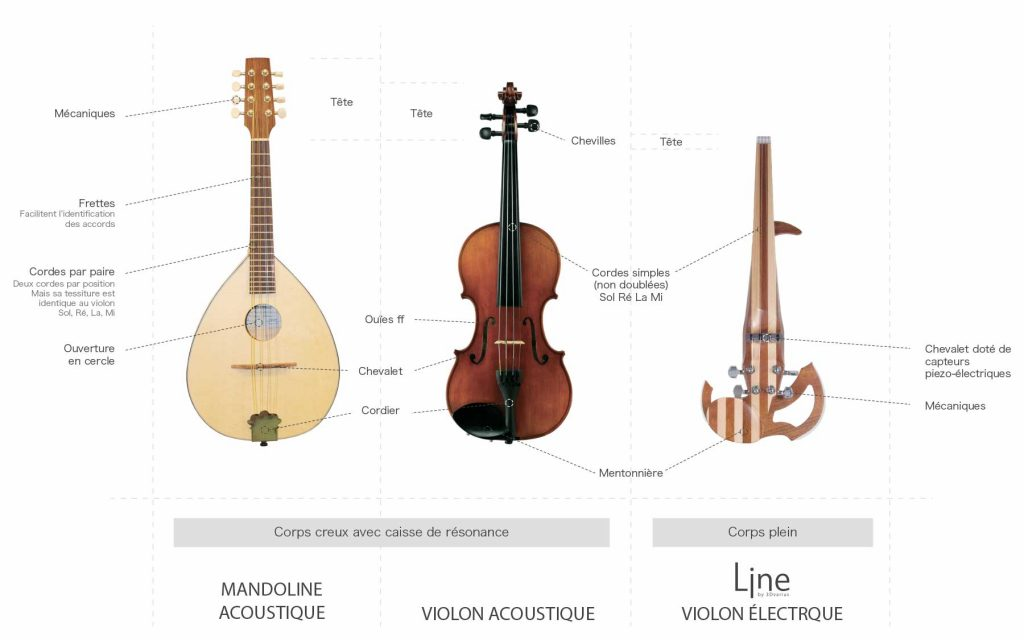 Violon acoustique VS Mandoline