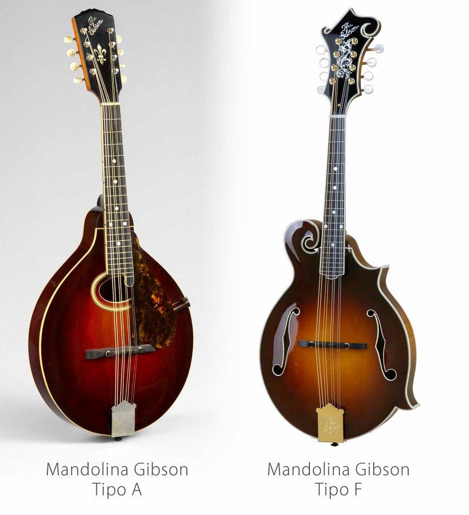 Mandolinas Gibson tipo A y F